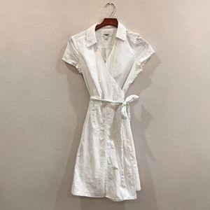 White eyelet wrap dress by Isaac Mizrahi size 12